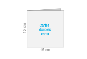 Cartes doubles carrè